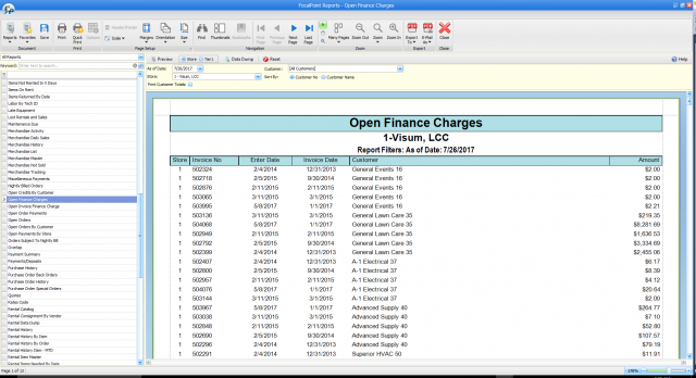 Open Finance Charges Report