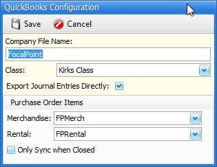 QuickBooks Configuration